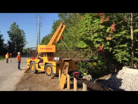 Wilmot Trails Bridge Gets Installed