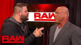 Kevin Owens hides from Braun Strowman in Kurt Angle's office: Raw, July 9, 2018 width=