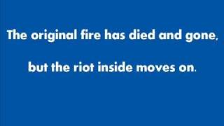 Audioslave - Original Fire - Lyrics