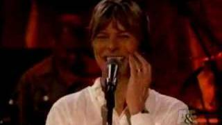 David Bowie joking with Moby (live by request)