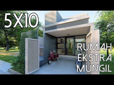 Download Video Desain Rumah Ekstra Mungil 5x10m [kode 010B]