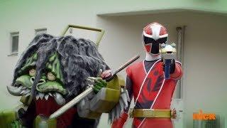 """Power Rangers Super Ninja Steel - Power Rangers vs Red Ranger & Game Goblin   Episode 5 """"Game Plan"""""""