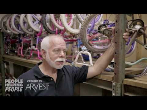 Bikes for Kids Refurbished by Ron King – People Helping People Created by Arvest Bank