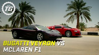 Bugatti Veyron vs McLaren F1 - Top Gear - BBC width=