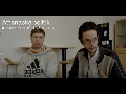 """Att snacka politik. Ur filmen """"Min röst, vårt val"""""""