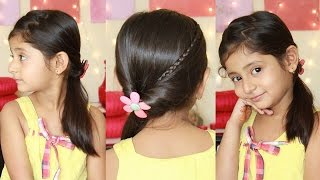 Zig Zag Ponytail | Simple & Cute Hairstyles