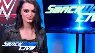 Paige announces a Last Woman Standing Match for WWE Evolution: SmackDown LIVE, Oct. 9, 2018