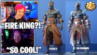 STREAMERS Unlocks & Reacts TO Prisoner 'Snowfall' Skin! *STAGE 1 & STAGE 2* (Fortnite Moments)