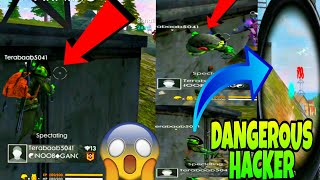 DANGEROUS HACKER IN FREE FIRE 😱 HE IS INVINCIBLE 😈 CHECK THIS