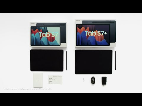 Unboxing Galaxy Tab S7   S7+   Samsung