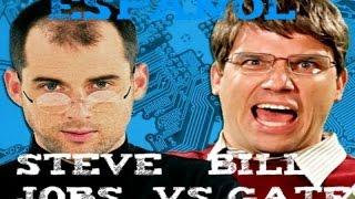 STEVEN JOBS VS BILL GATES ERB EN ESPANOL