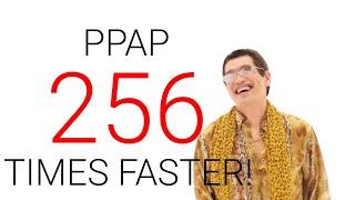 Pikotaro performing Pen Pineapple Apple Pen (PPAP) 256 times faster!