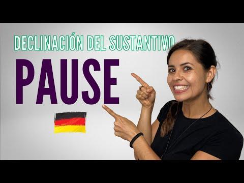 """Declinación del sustantivo """"Pause"""" /  Alemán básico con Whitney"""