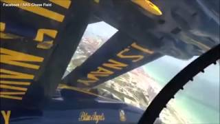 Video Shows How Tight a Blue Angels Formation Is