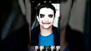 The jocker Face Mask in PicsArt   PicsArt Tuto