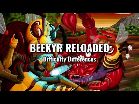Beekyr Reloaded - Comparative difficulty modes with first Queen.