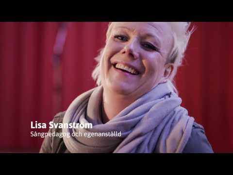 Lisa Svanström, sångpedagog och egenanställd hos Frilans Finans