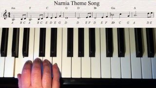Narnia Theme. right hand - easy piano tutorial