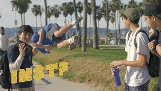 """Lil Nas X viral country rap song """"Old Town Road""""   STREET REACTIONS at Venice Beach"""