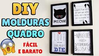 DIY: COMO FAZER MOLDURA DE QUADRO com Papel Cartão para Decorar Quarto Estilo Tumblr #diyhome