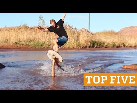 TOP FIVE: Extreme Rope Swing, Skimboarding & Flyboard | PEOPLE ARE AWESOME 2016 Poster