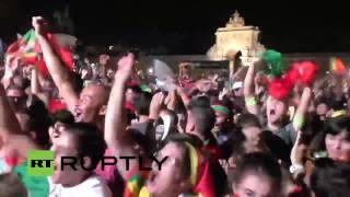 Portugal Eder Goal + reaction
