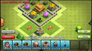 Clash of clan village hdv3 défensif
