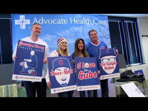 Chicago Cubs World Championship Trophy Tour stops at Advocate Health Care