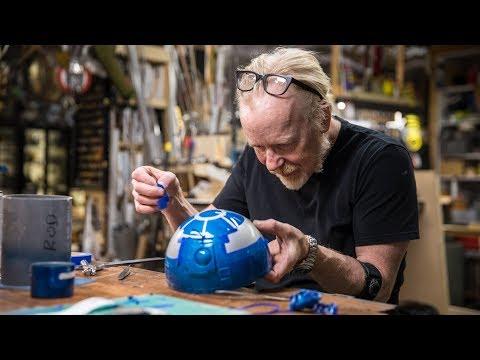 Adam Savage Paints an Astromech for Magic Wheelchair!