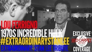 Lou Ferrigno interviewed at the Extraordinary Stan Lee Tribute Event #ExtraordinaryStanLee