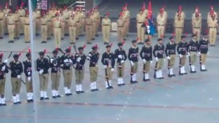 NCC rifle drill(Republic day parade) SPUS college Cadets B'lore width=