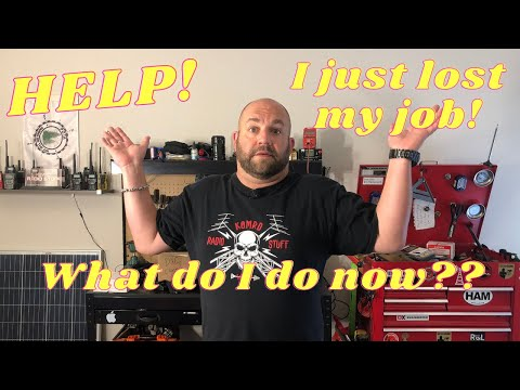 Help, I lost my job!!  What now?