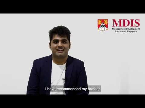MDIS MBA Testimonial Video - Kasinadhuni