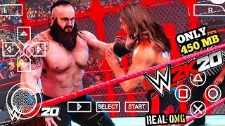 [450 MB] REAL WWE 2K20 PPSSPP ANDROID DOWNLOAD WWE 2K20 PSP MOD | ANDRO TECH CP I