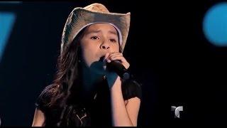 "Johanna canta ""Amor a la mexicana"" en ""La Voz Kids"""