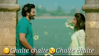 Chalte Chalte | Mitron | Atif Aslam |   New WhatsApp Status Video By Lyrics Studio Mukesh