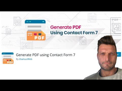 ✅ PDF DESCARGABLE CON DATOS DE USUARIO | CONTACT FORM 7