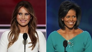 Comparing Melina Trump and Michelle Obama's Speeches