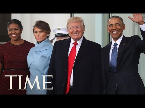 Barack And Michelle Obama Welcome The Trumps   Donald Trump Inauguration   TIME