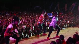 Triplets Ghetto Kids perform with Eddy Kenzo (NEW YEAR'S EVE)