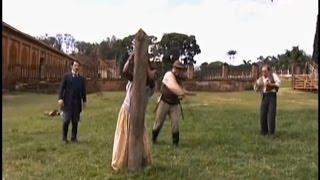 A Escrava Isaura (Record) - Seu Chico dá Uma Surra em Mudinha