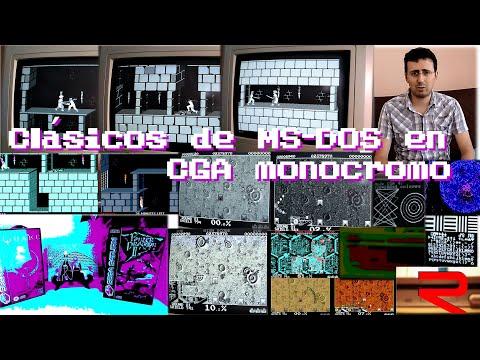 La Alcoba del CGA - 08 - CGA Monocromo (parte 2) Volfied, Flight Simulator 4.0 Comparativa de Modos