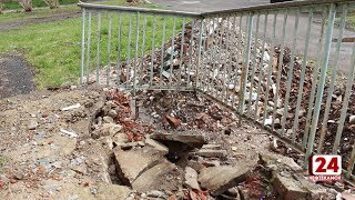 Вместо школьного двора - свалка строительного мусора
