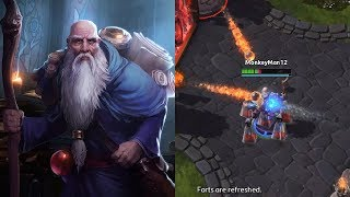 Showing off Deckard Cain's Insane Healing Potential - Heroes of the Storm