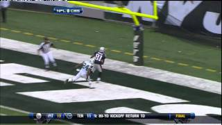 Randy Moss Sick one Handed Catch over Darrelle Revis
