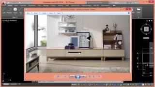 Autocad triển khai đồ nội thất - Tủ TV (tủ nằm) -