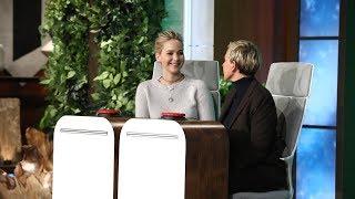 Jennifer Lawrence Answers Ellen's 'Burning Questions' width=