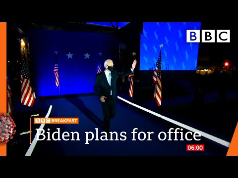 Joe Biden pushes forward with plans for office 🇺🇸 US Election @BBC News live – BBC