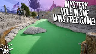 WINNING FREE GAMES OF MINI GOLF WITH HOLE IN ONES! | Brooks Holt