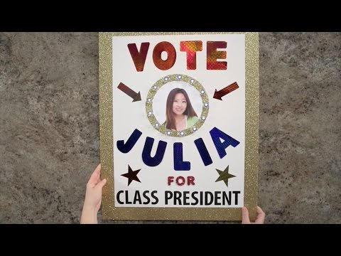 Create Election Posters that Win!   Class President Poster Idea
